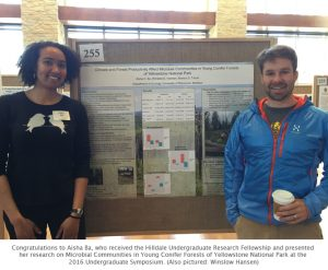 Photo of Aisha and Winslow at poster session
