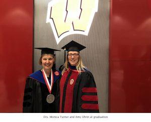 Photo of Monica and Amy graduation