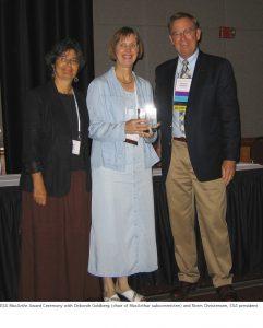Photo of Monica MacArthur award