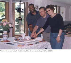 Photo of cake cutting 2001