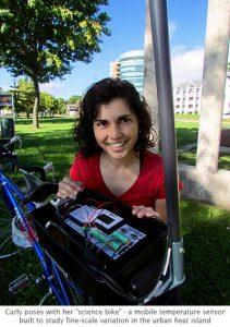 Photo of Carly urban heat island research