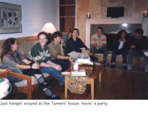 Photo of fall 2002 lab party