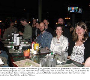 Photo of IALE 2008 lab reunion