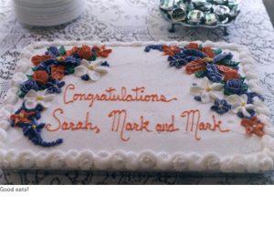 Photo of grad cake 2001