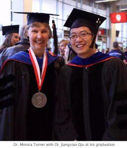 Photo of Monica and Jiangxiao at graduation