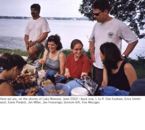 Photo of summer 2002 lab party