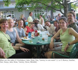 Photo of lab group at Terrace