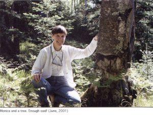 Photo of Monica with tree