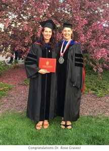 Photo of Rose and Monica at graduation