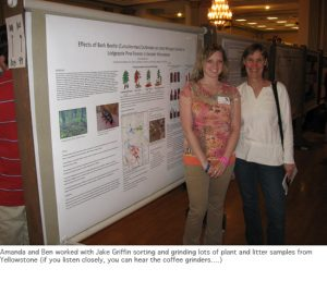 Photo of Amanda and Monica with poster