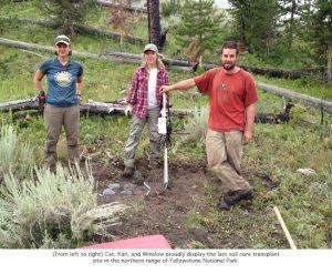 Photo of field crew soil transplant