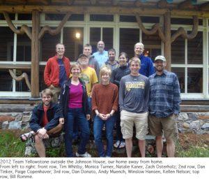 Photo of Yellowstone field crew