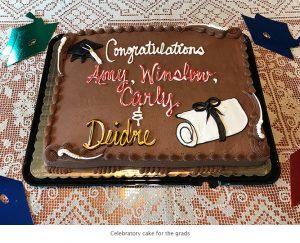 Photo of grad cake