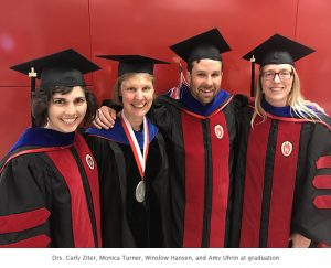 Photo of 3 new PhDs