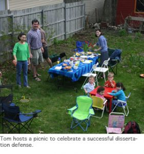 Photo of picnic with Tom