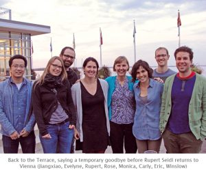 Photo of Turner Lab farewell at the Terrace