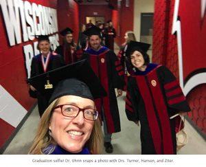 Photo of grad selfie