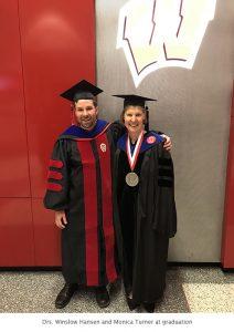 Photo of Winslow and Monica graduation