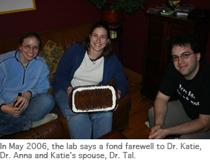 Photo of goodbye cake for Katie and Anna