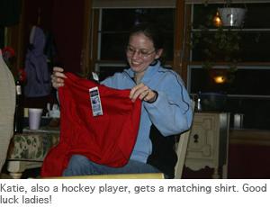 Photo of Katie with present