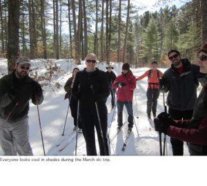 Photo of lab ski trip