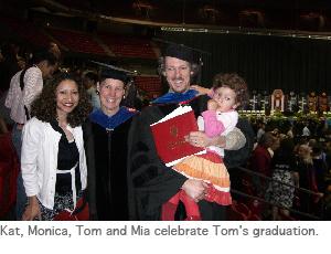 Photo of Tom graduation